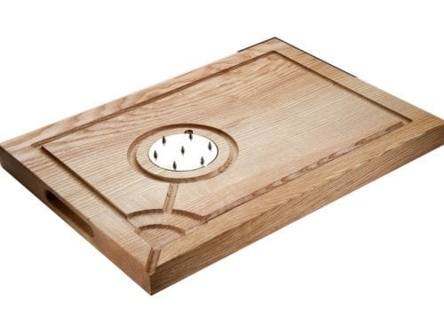 CAR002-WS - Motte & Bailey Carving Board (with spikes)